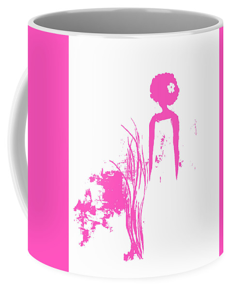 Coffee Mug featuring the painting Aurora Pink by Anitra Carter