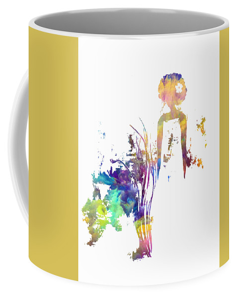 Coffee Mug featuring the painting Aurora Yellow by Anitra Carter
