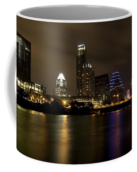 Austin Coffee Mug featuring the photograph Austin Texas Skyline by Anthony Totah