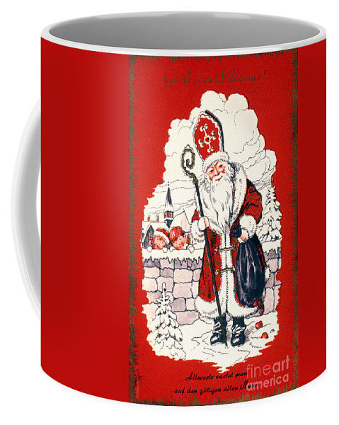 19th Century Coffee Mug featuring the photograph Austrian Christmas Card by Granger