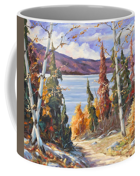 Art Coffee Mug featuring the painting Automn Colors by Richard T Pranke