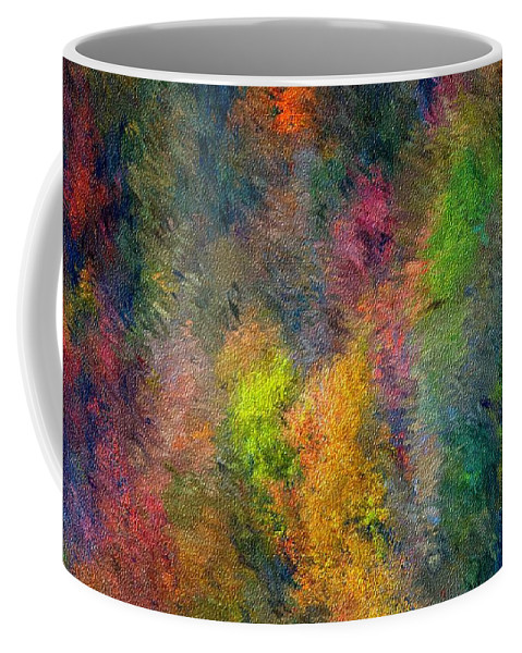 Landscape Coffee Mug featuring the digital art Autum Hillside by David Lane
