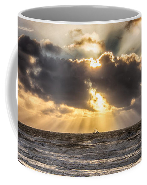 Autumn Coffee Mug featuring the photograph Autum Storm 001 by Alex Hiemstra