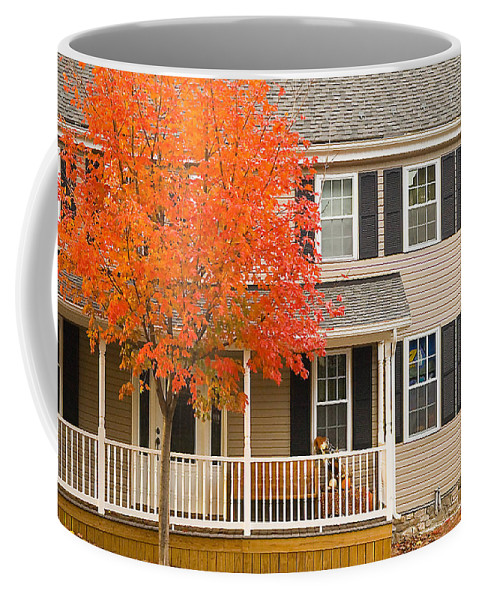Autumn Coffee Mug featuring the photograph Autumn At The Inn by Mick Burkey