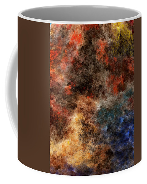 Abstract Digital Painting Coffee Mug featuring the digital art Autumn Beauty by David Lane