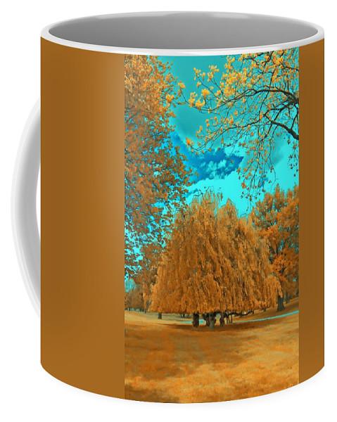 Surreal Landscape Coffee Mug featuring the photograph Autumn Blaze by Mykel Davis
