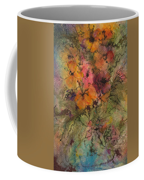 Floral Coffee Mug featuring the painting Autumn Blooms by Barbara Colangelo