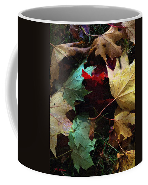 Autumn Coffee Mug featuring the painting Autumn Carpet by RC DeWinter