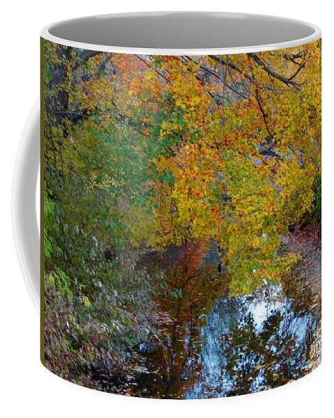 Leaves Coffee Mug featuring the photograph Autumn Colors Of Reflection by Gina Sullivan