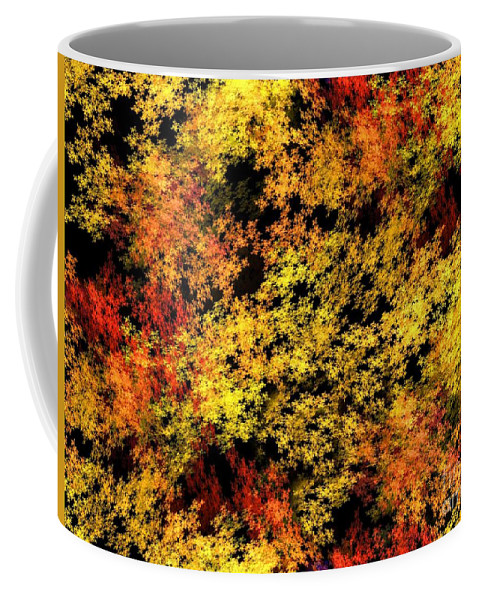 Abstract Coffee Mug featuring the digital art Autumn Colors by Yali Shi