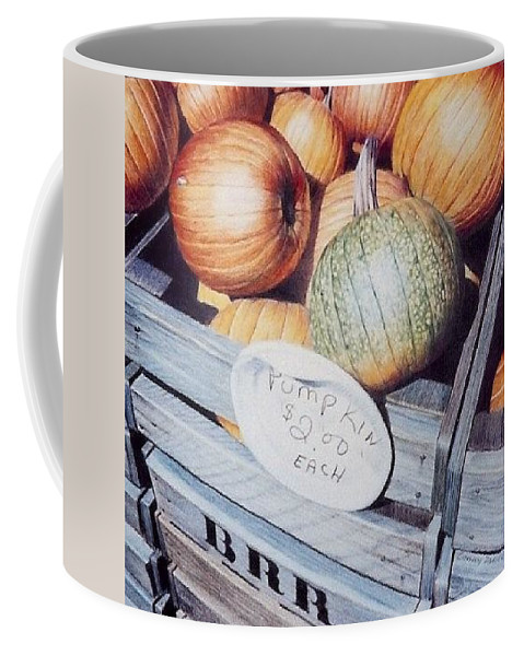 Orange Coffee Mug featuring the painting Autumn by Constance Drescher