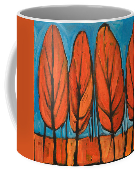 Fall Coffee Mug featuring the painting Autumn Dance by Tim Nyberg