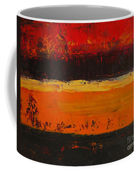 Abstract Painting Coffee Mug featuring the painting Autumn Day by Patricia Awapara