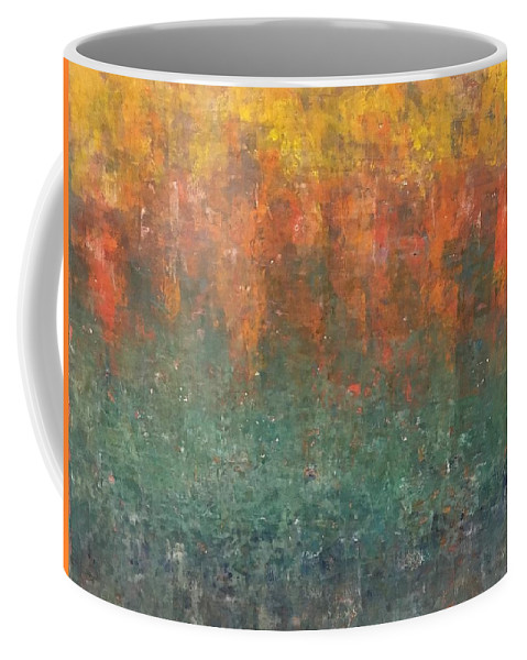 Cold Wax And Oil Coffee Mug featuring the painting Autumn Delight by Mary Parks