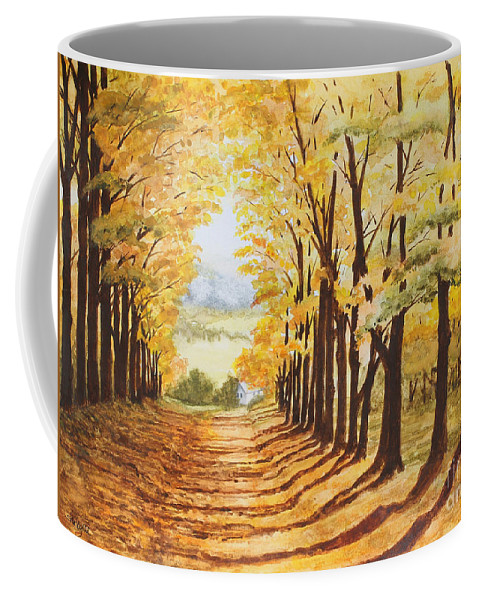 Landscape Coffee Mug featuring the painting Autumn Evening by Shirley Miller