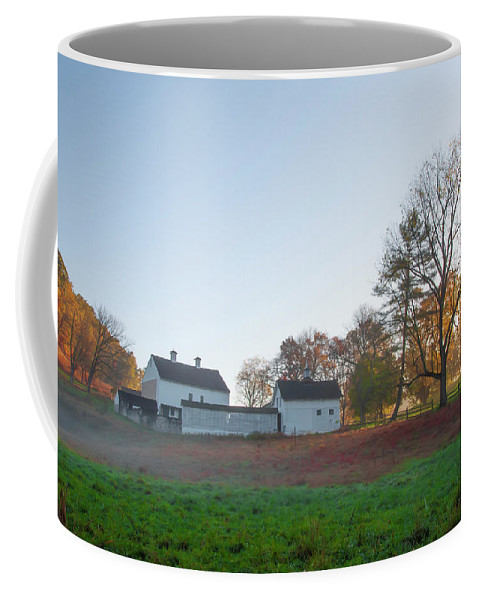 Autumn Coffee Mug featuring the photograph Autumn - Farm At Valley Forge by Bill Cannon