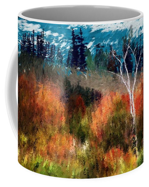 Digital Photo Coffee Mug featuring the digital art Autumn Feel by David Lane