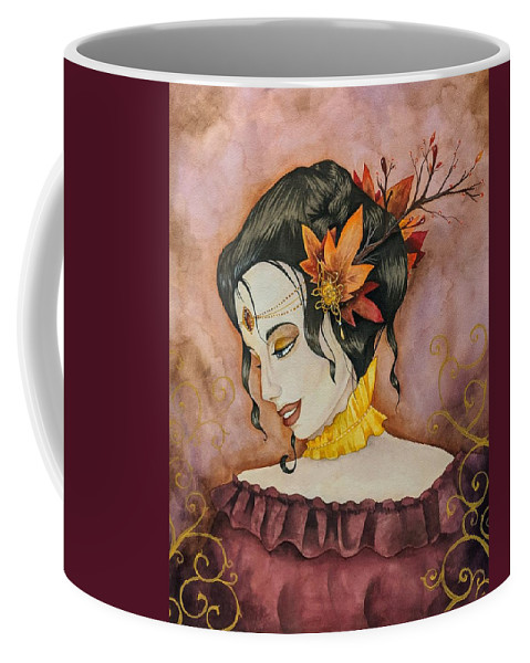 Autumn Coffee Mug featuring the painting Autumn Finery by Mary Lynch