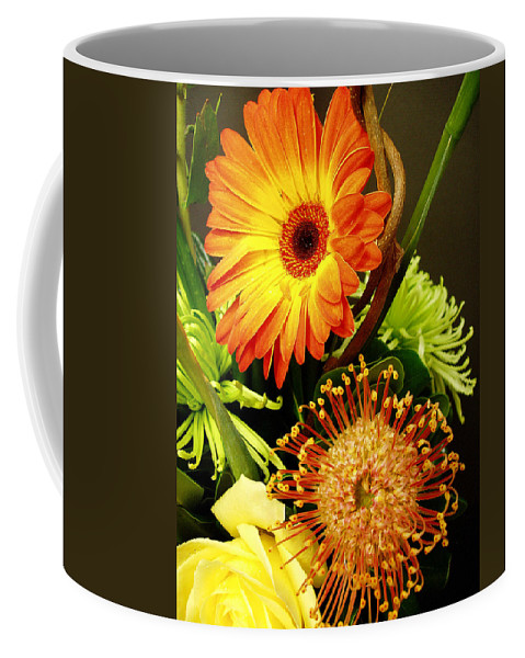 Autumn Coffee Mug featuring the photograph Autumn Flower Arrangement by Nancy Mueller