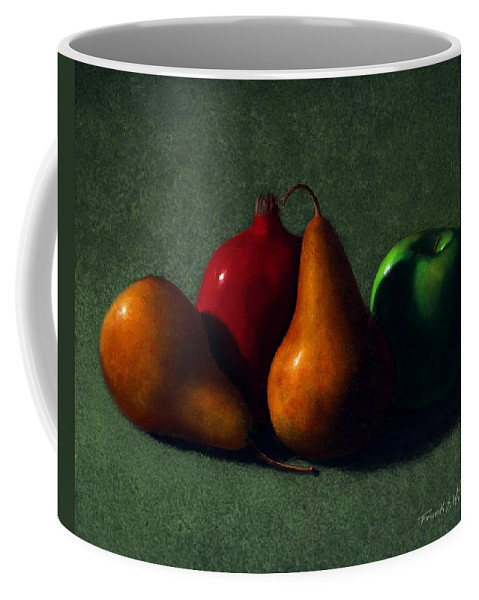 Still Life Coffee Mug featuring the painting Autumn Fruit by Frank Wilson