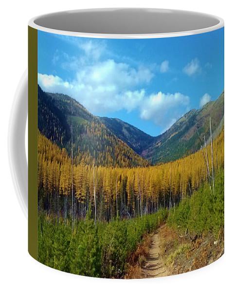 Mountains Coffee Mug featuring the photograph Autumn Hike by Eric Fellegy