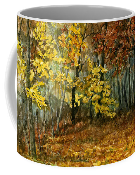 Landscape Coffee Mug featuring the painting Autumn Hollow II by Mary Tuomi