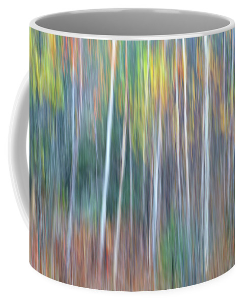 Forest Pastels Form An Autumn Impression Coffee Mug featuring the photograph Autumn Impression by Bill Morgenstern
