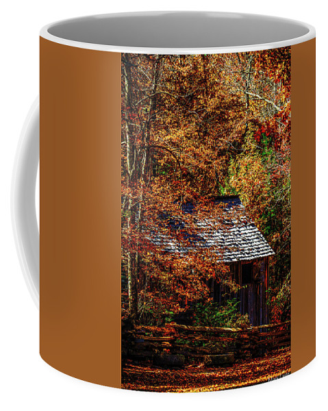 Tennessee Coffee Mug featuring the photograph Autumn In Cades Cove Smnp by Mark Fuge