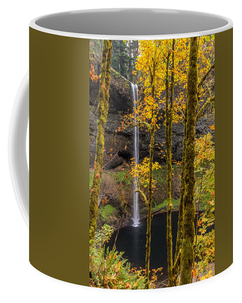 Waterfall Coffee Mug featuring the photograph Autumn In Silver Falls by Scott Law