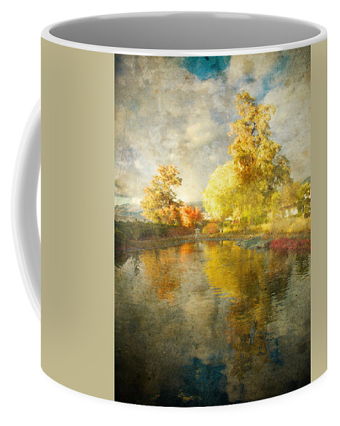 Japanese Gardens Coffee Mug featuring the photograph Autumn In The Pond by Tara Turner