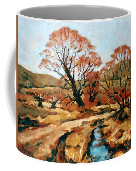 Landscape Coffee Mug featuring the painting Autumn Landscape by Iliyan Bozhanov
