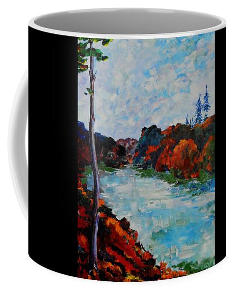 Autumn Coffee Mug featuring the painting Autumn Landscape by Shirley Heyn