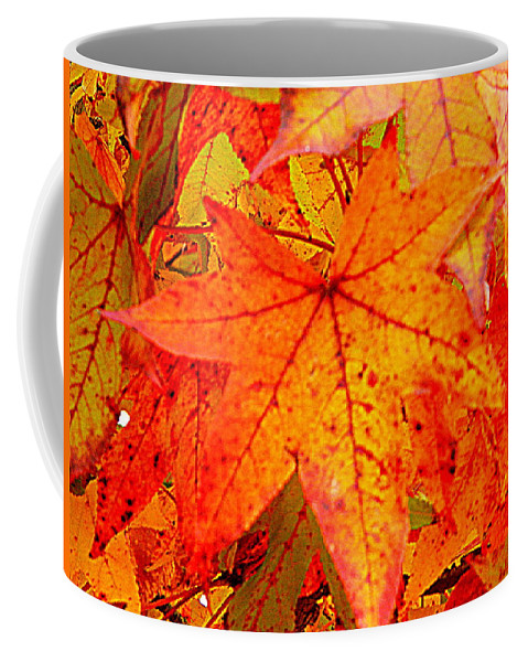 Leaves Coffee Mug featuring the photograph Autumn Leaves by Arlane Crump