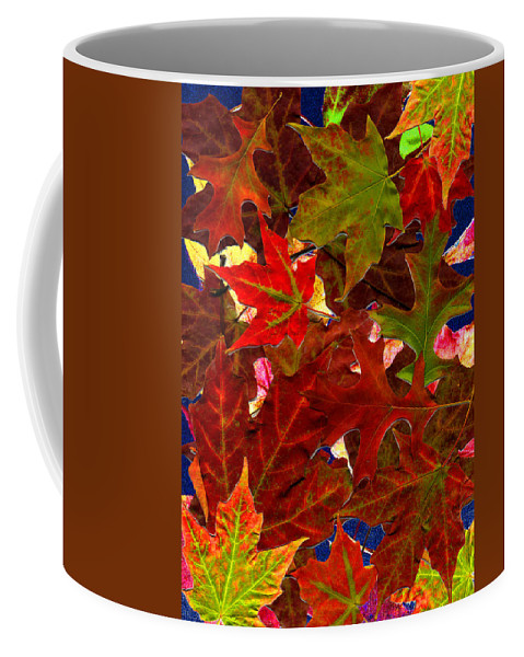 Collage Coffee Mug featuring the photograph Autumn Leaves by Nancy Mueller