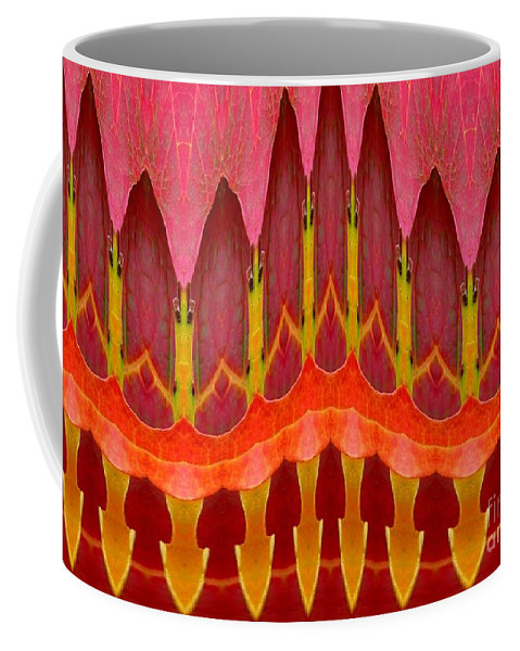 Autumn Leaves Polar Coordinate Abstract Coffee Mug featuring the photograph Autumn Leaves Polar Coordinate Abstract by Rose Santuci-Sofranko