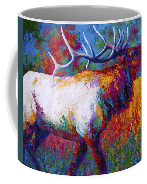 Elk Coffee Mug featuring the painting Autumn by Marion Rose
