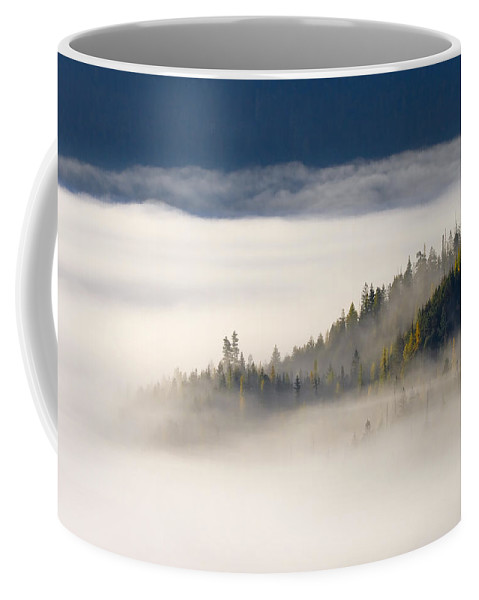 Fog Coffee Mug featuring the photograph Autumn Morn by Mike Dawson