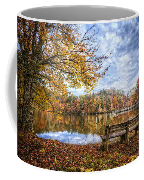 Appalachia Coffee Mug featuring the photograph Autumn Morning by Debra and Dave Vanderlaan