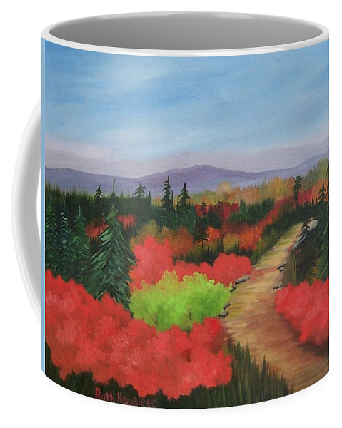 Landscape Coffee Mug featuring the painting Autumn On Dolly Sods by Ruth Housley