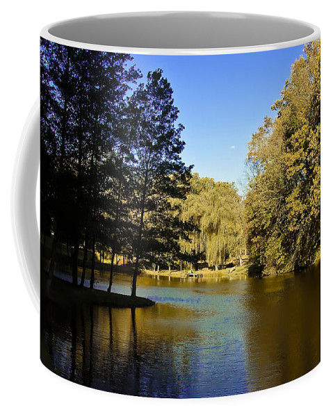 Autumn Coffee Mug featuring the photograph Autumn On The Lake by Bill Cannon