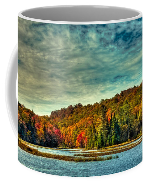 Autumn On The Moose River In Thendara Coffee Mug featuring the photograph Autumn On The Moose River In Thendara by David Patterson