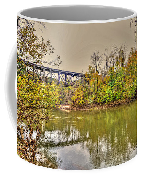 River Coffee Mug featuring the photograph Autumn On The Staunton River by Aaron Shortt