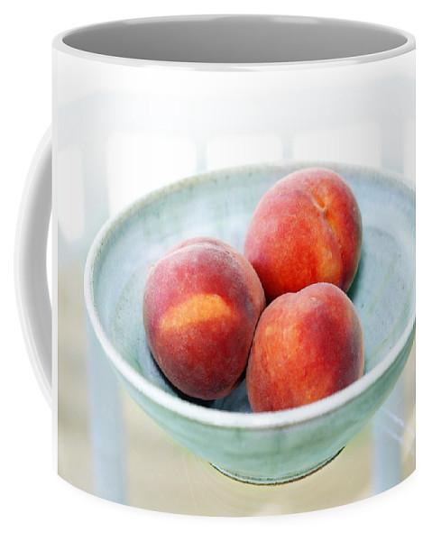 Peaches Coffee Mug featuring the photograph Autumn Peaches by Marilyn Hunt