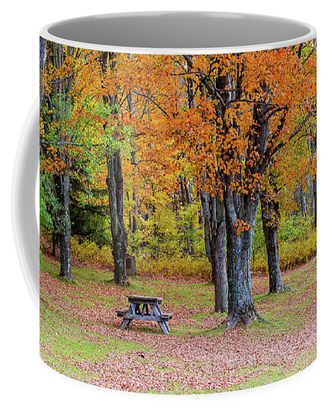 Autumn Coffee Mug featuring the photograph Autumn Picnic by Jack Sassard