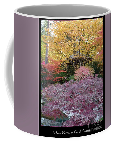 Fall Coffee Mug featuring the photograph Autumn Purple by Carol Groenen