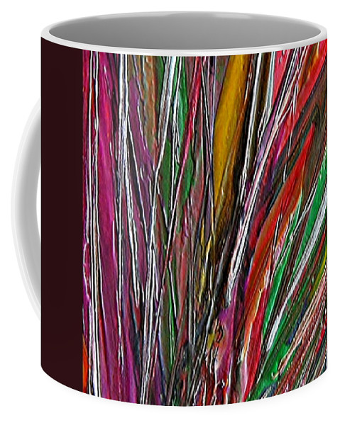Encaustic Painting Coffee Mug featuring the painting Autumn Reeds by Dragica Micki Fortuna