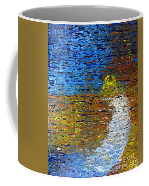 Autumn Reflection Coffee Mug featuring the painting Autumn Reflection by Jacqueline Athmann