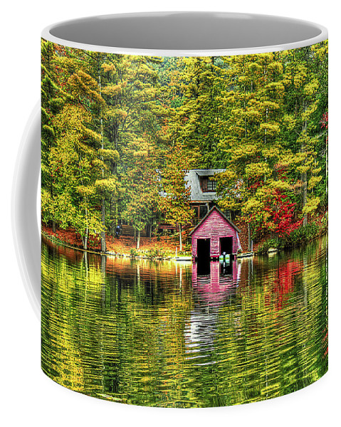 Foliage Coffee Mug featuring the photograph Autumn Reflections by Evelina Kremsdorf