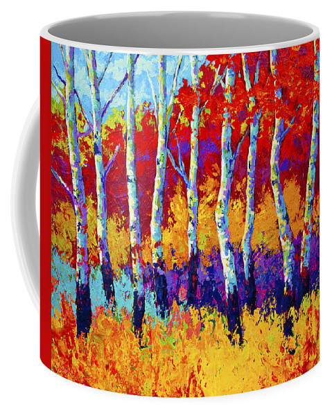 Trees Coffee Mug featuring the painting Autumn Riches by Marion Rose