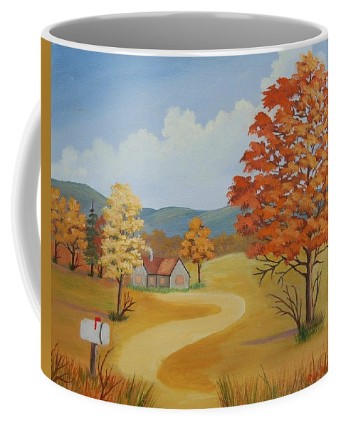Landscape Coffee Mug featuring the painting Autumn Season by Ruth Housley